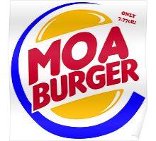 Moa Burger Poster