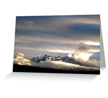 Clouds of the Olympic Mountains Greeting Card