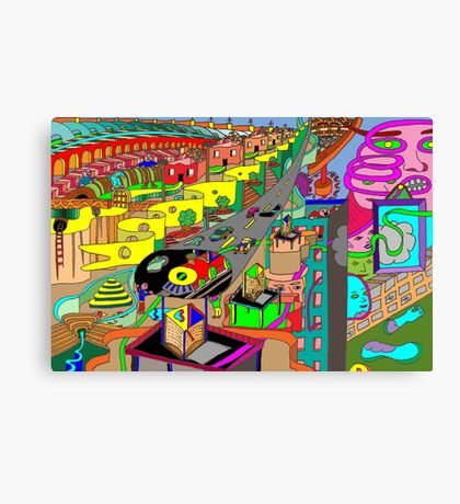 Confused landscape Canvas Print