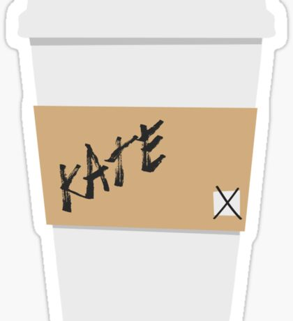 Kate Beckett Coffee Sticker