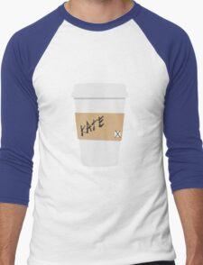 Kate Beckett Coffee Men's Baseball ¾ T-Shirt