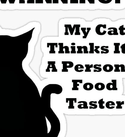 Warning Cat Sticker