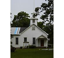 Small Town Church Photographic Print