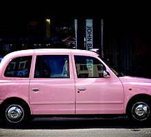 Pink Cab in London by Cédric Tourasse