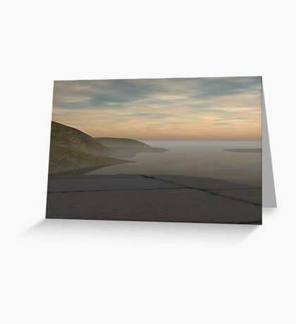 Remote Terrace Greeting Card