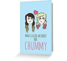 What's A Girl Without Her Chummy - Zoella & Spinkle of Glitter Greeting Card