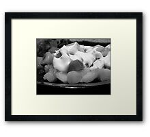 ©HS On The Kitchen IVA Monochromatic Framed Print