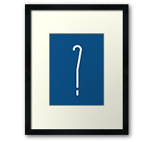 Question Mark - style 10 Framed Print