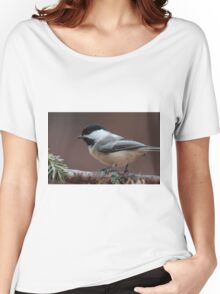 Chickadee up close Women's Relaxed Fit T-Shirt