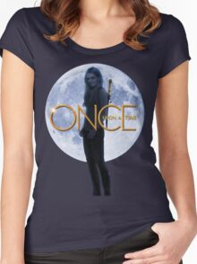 Emma Swan/The Savior - Once Upon a Time Women's Fitted Scoop T-Shirt