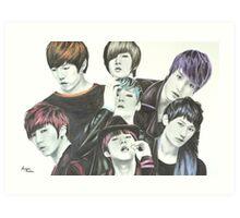 U-Kiss Full Drawing Art Print