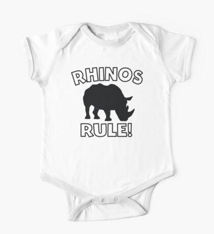 Rhinos Rule One Piece - Short Sleeve