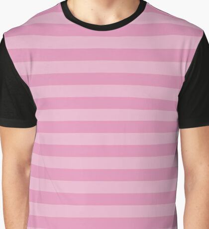 Stripes (Parallel Lines, Striped Pattern) - Pink  Graphic T-Shirt