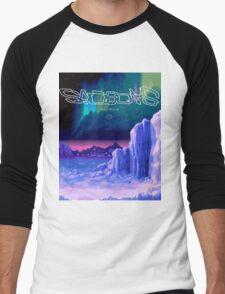 Icy Winter Vaporwave Aesthetics Men's Baseball ¾ T-Shirt