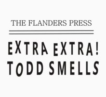 Extra Extra! Todd Smells! by HalfFullBottle