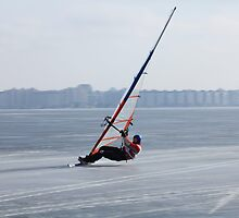 winter windsurfing by mrivserg