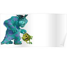 Shrek/Donkey & Sully/Mike Crossover Poster