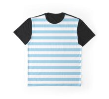 Stripes (Parallel Lines) - White Blue Graphic T-Shirt