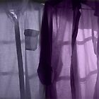 Purple Shirts in a Window by Wayne King