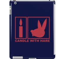 Candle with Hare - Handle with Care iPad Case/Skin