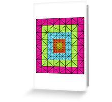 416 TRIANGLES ARTWORK Greeting Card