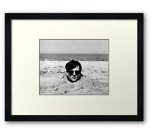 Head in the Sand Framed Print