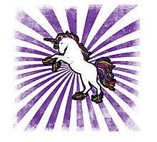Retro Unicorn Photographic Print