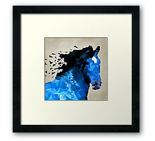 Abstract horse of geometric shape, symbol 2014 Framed Print