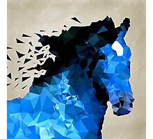 Abstract horse of geometric shape, symbol 2014 Photographic Print