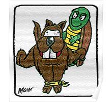 Turtle Vs Beaver Poster
