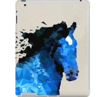 Abstract horse of geometric shape, symbol 2014 iPad Case/Skin