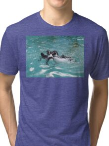 Penguins playing in the Water Tri-blend T-Shirt