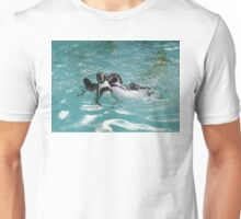 Penguins playing in the Water Unisex T-Shirt