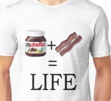 Nutella + Bacon = Life Unisex T-Shirt