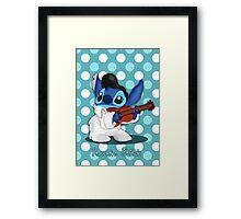 Elvis Stitch Framed Print