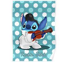 Elvis Stitch Poster