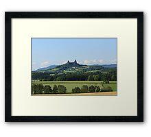 Czech Castle with farmland Framed Print