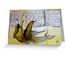 pears with attitude Greeting Card