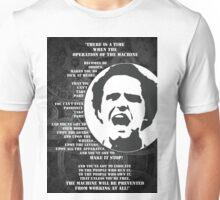 The Operation of the Machine: Mario Savio Unisex T-Shirt