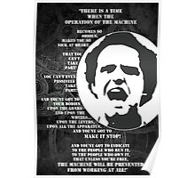 The Operation of the Machine: Mario Savio Poster