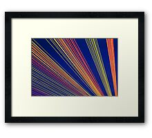 Rainbow Strings Framed Print