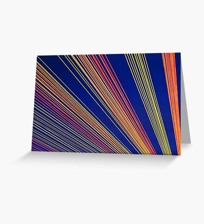 Rainbow Strings Greeting Card