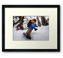 Finally some lowland snow! Framed Print