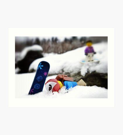 #snowboardfail Art Print