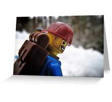 Back on the snowboard! Greeting Card