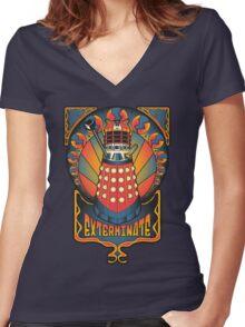 Dalek Nouveau Women's Fitted V-Neck T-Shirt