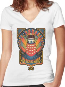 Dalek Nouveau Women's Fitted V-Neck T-Shirt