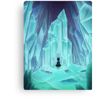 Frozen Calm of Crystal Caverns Canvas Print