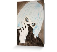 Alice Glass Watercolour Greeting Card