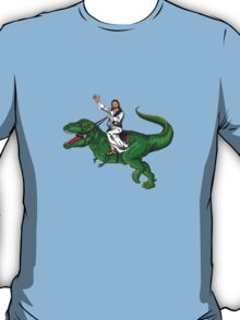 Jesus Riding a Dinosaur T-Shirt